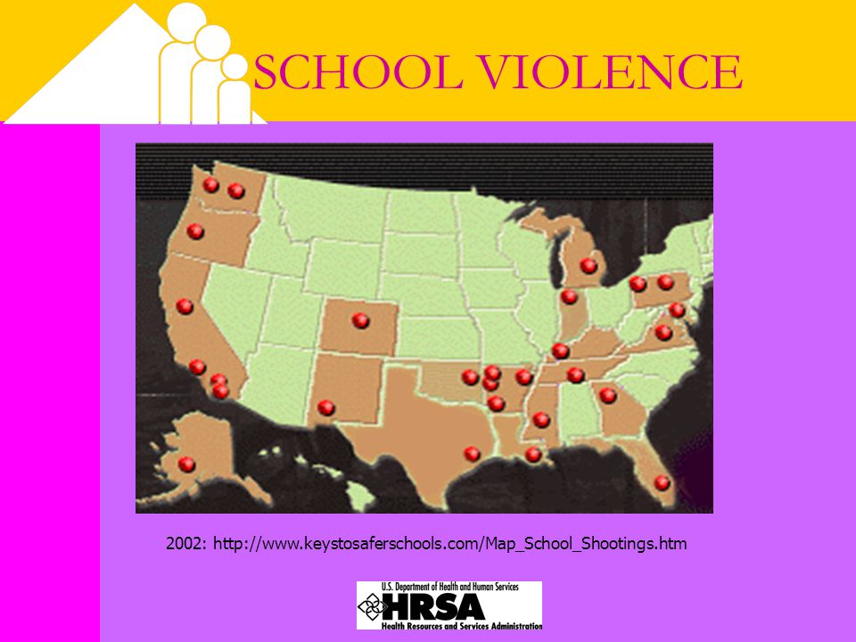 SCHOOL VIOLENCE 2002: http://www.keystosaferschools.com/Map_School_Shootings.htm