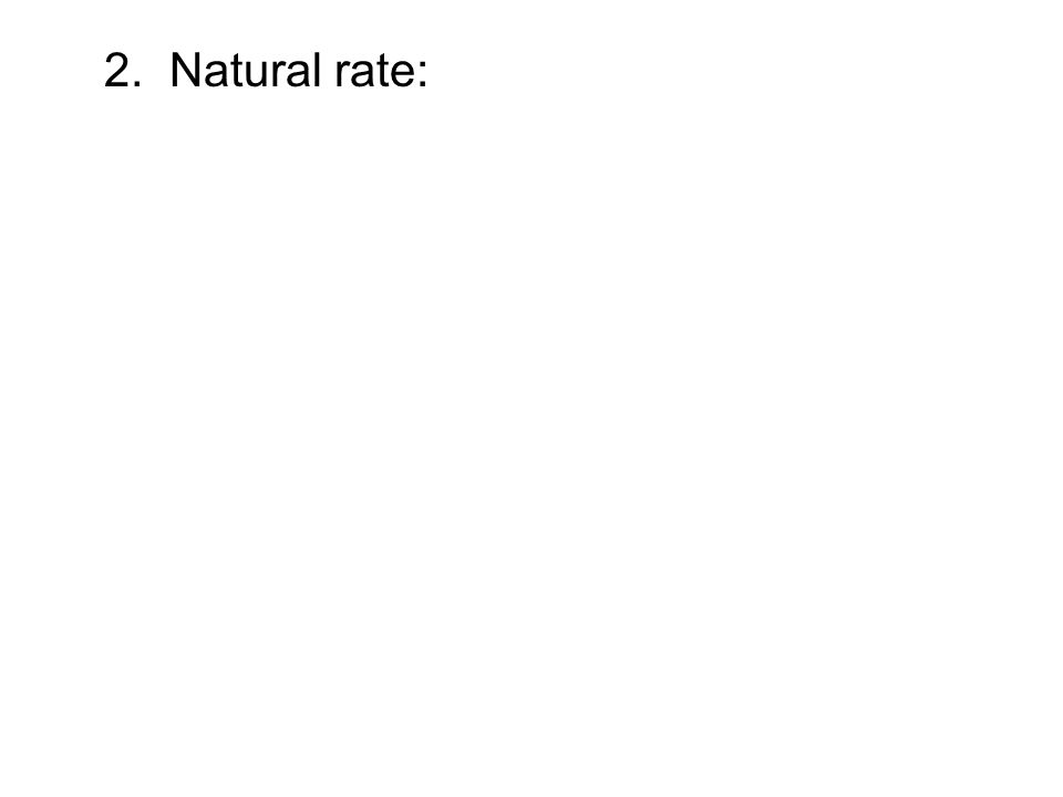 2. Natural rate: y = ae -kt