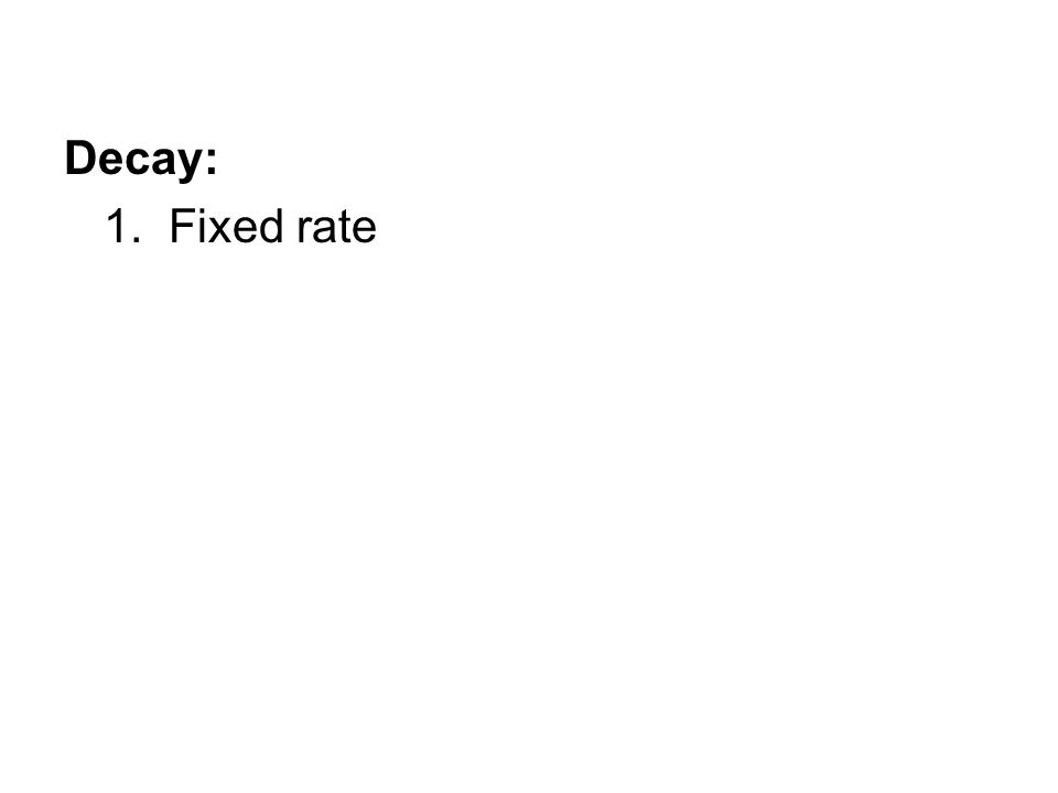 1. Fixed rate