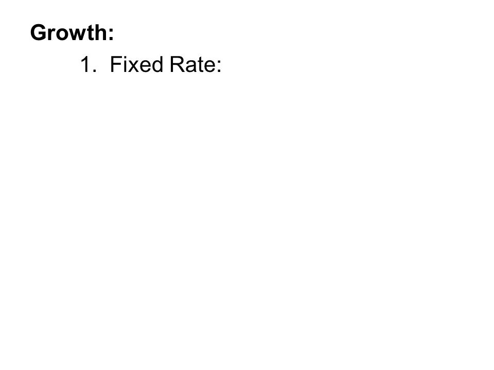 1. Fixed Rate:
