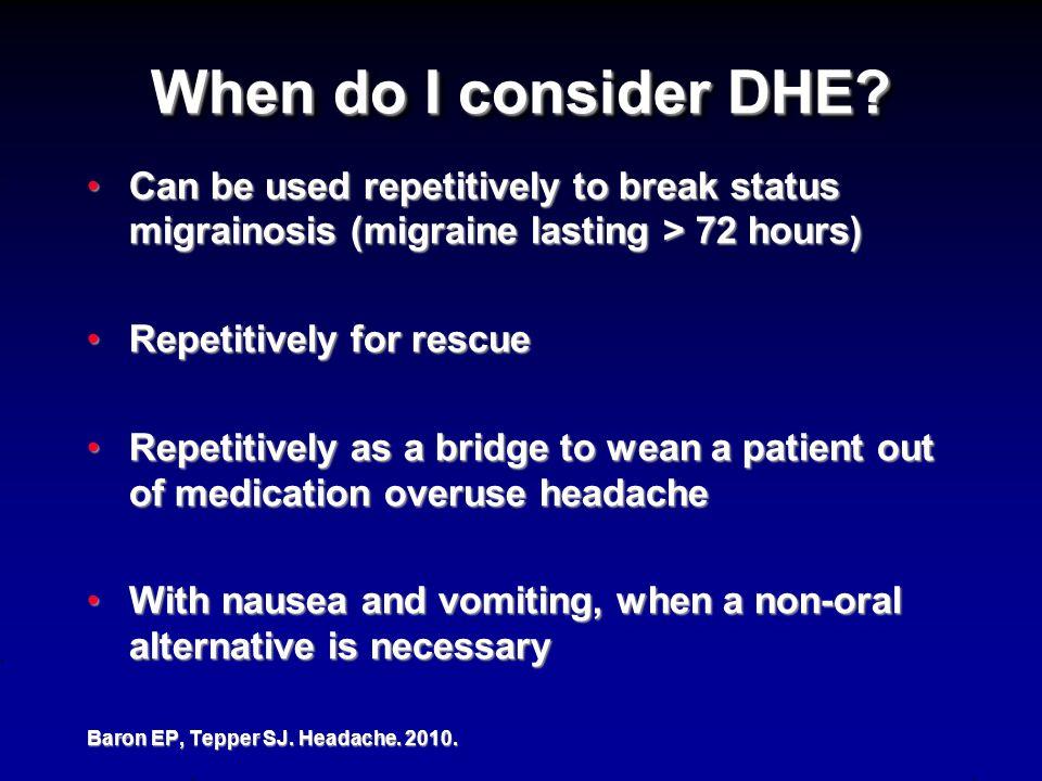 When do I consider DHE.