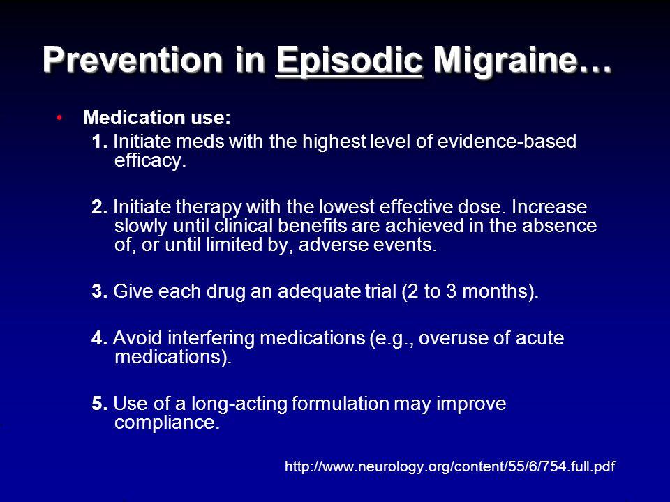 **Final Word on Acute Treatments** Guard against medication-overuse headache (MOH; rebound HA).