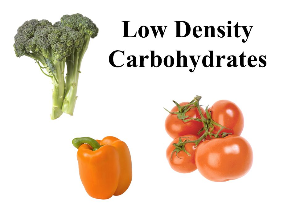 Low Density Carbohydrates