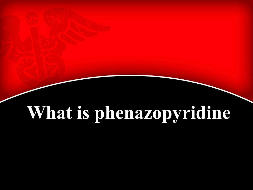 What is phenazopyridine