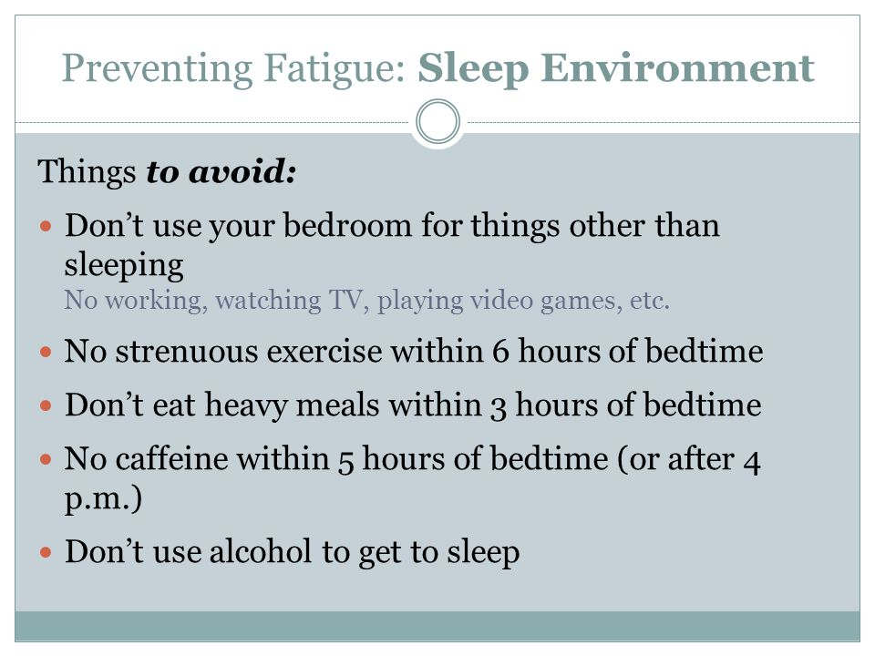 Preventing Fatigue: Questions What can replace getting enough sleep.