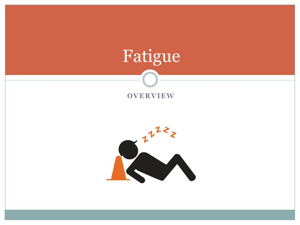 A biological drive for sleep. Symptoms of fatigue can be experienced in many ways: Physically Mentally Emotionally Fatigue: What Is It?