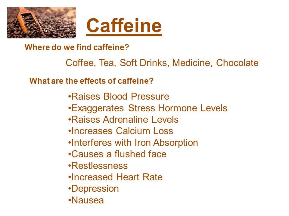 Caffeine Where do we find caffeine.