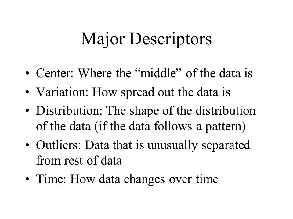 Frequency Distribution A frequency distribution lists data values (or groups of data values) along with how many data had that value (the frequency, or count)