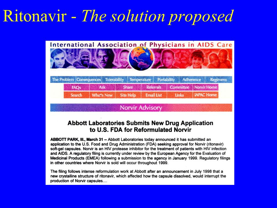 Ritonavir - The solution proposed