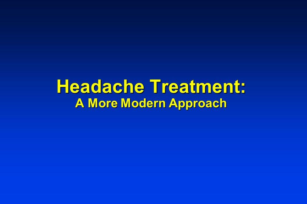Headache Treatment: A More Modern Approach