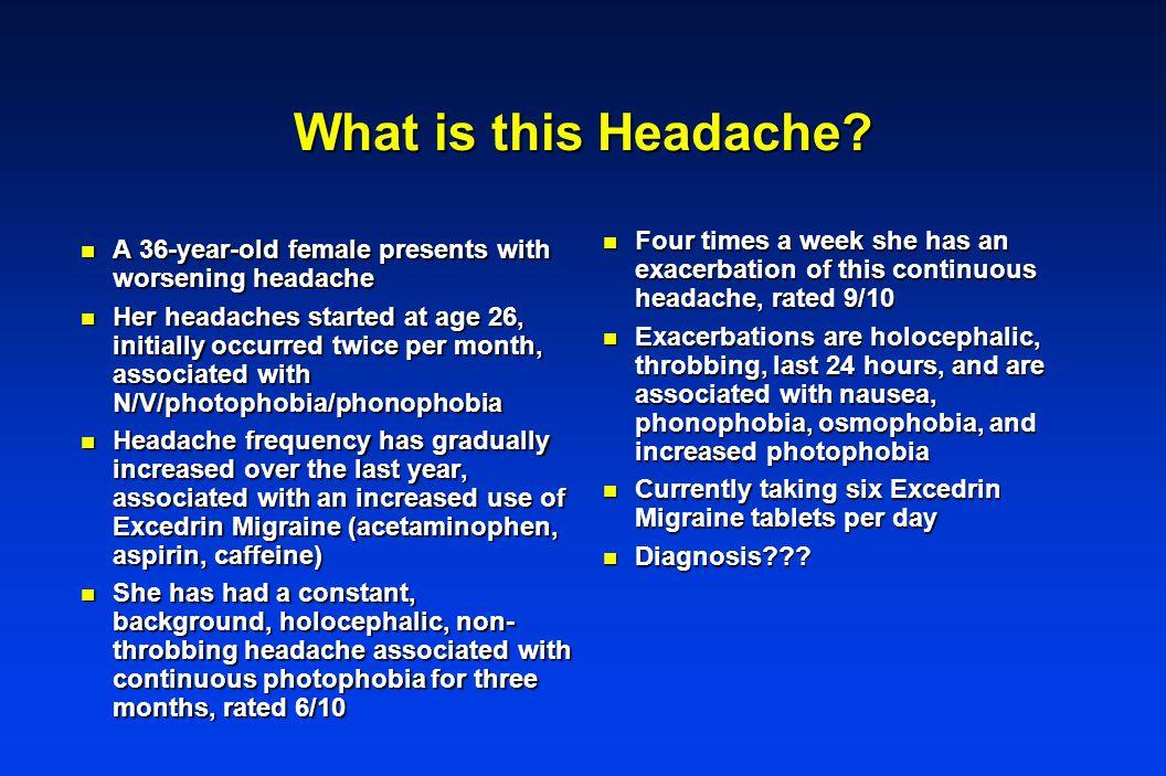 What is this Headache.