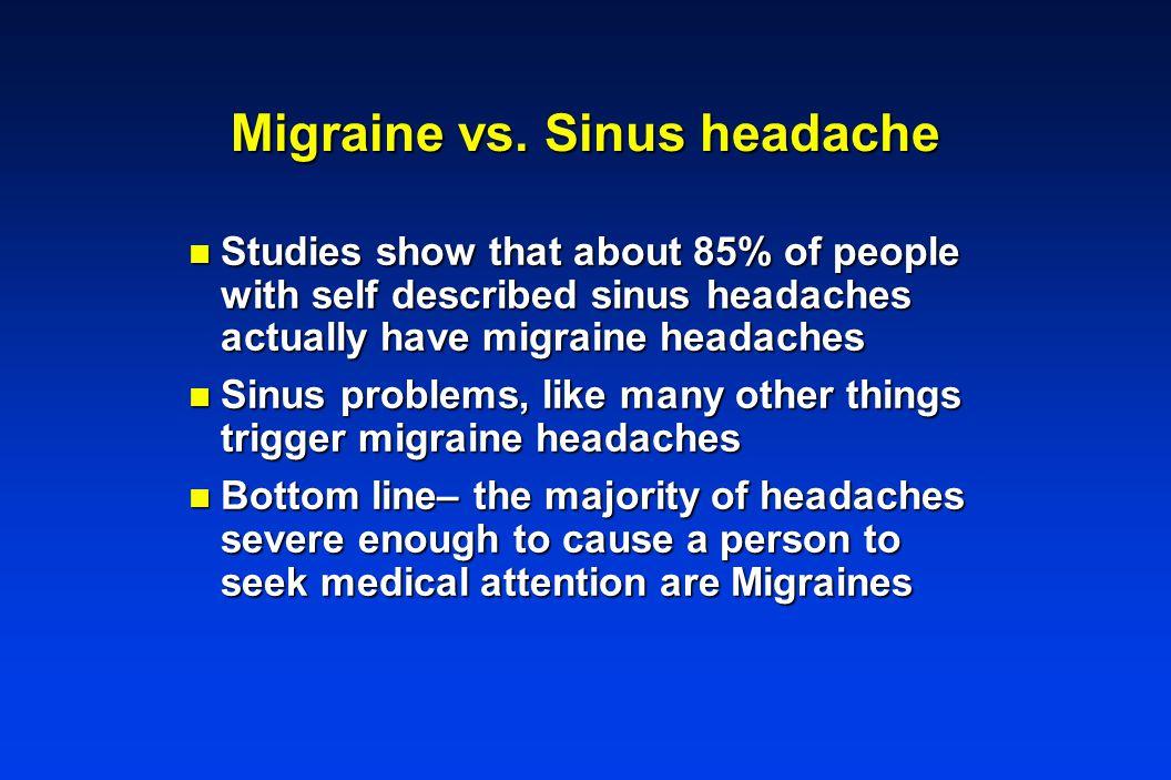 Migraine vs.