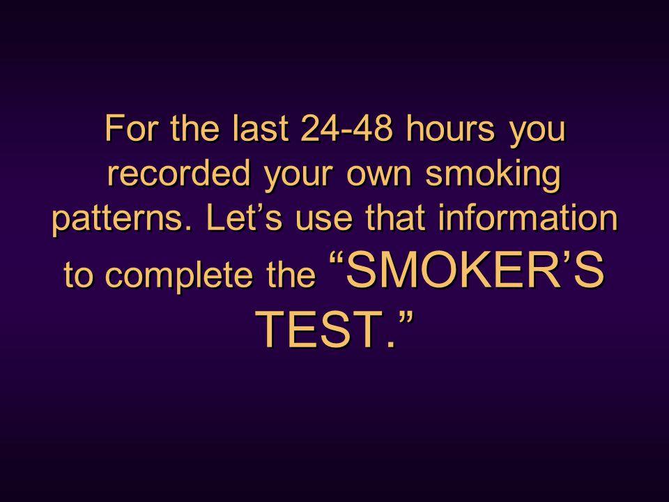 Do you smoke out of HABIT ?