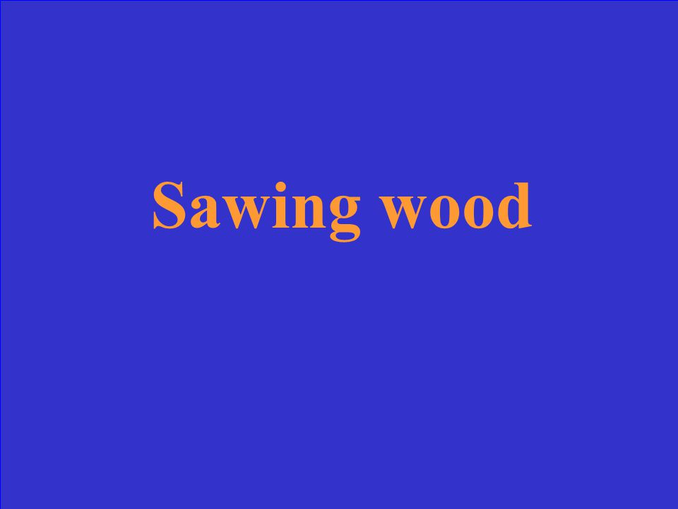 Which of the following IS a physical change? Sawing wood Burning a marshmallow Rusting of a nail