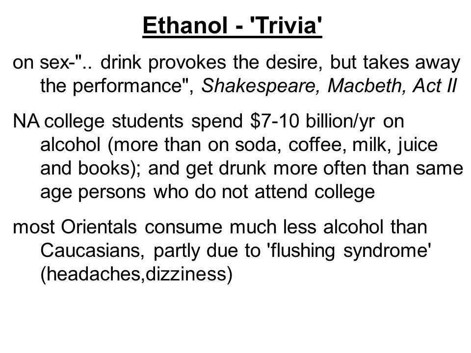 Ethanol - Trivia on sex- ..