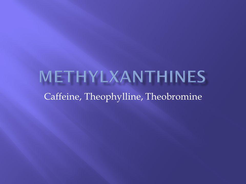 Caffeine, Theophylline, Theobromine