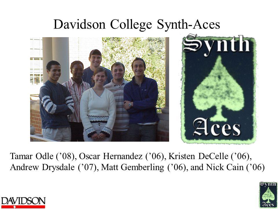 Davidson College Synth-Aces Tamar Odle ('08), Oscar Hernandez ('06), Kristen DeCelle ('06), Andrew Drysdale ('07), Matt Gemberling ('06), and Nick Cain ('06)