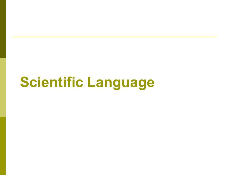 Scientific Language