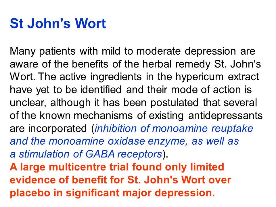 St John s Wort (Hypericum perforatum )