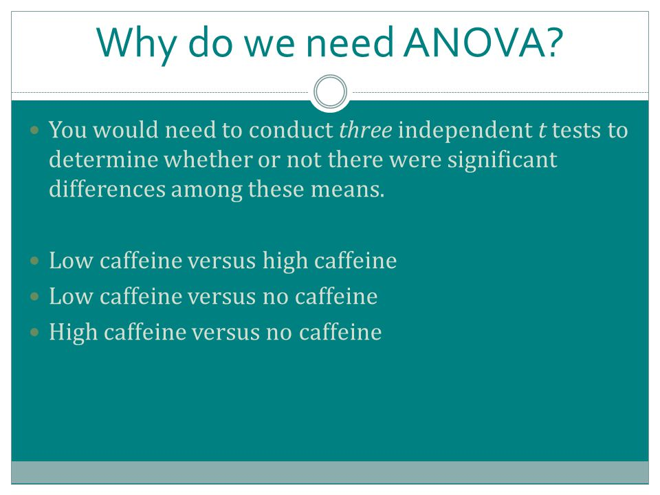 Why do we need ANOVA.
