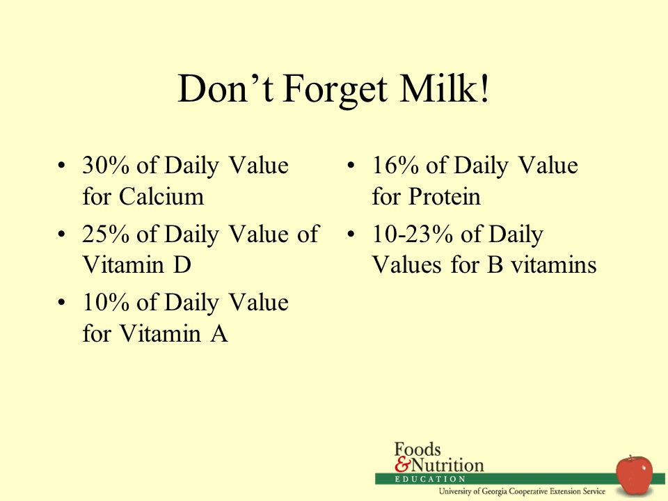 Don't Forget Milk.