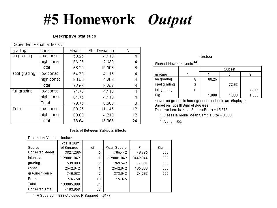 #5 Homework Output