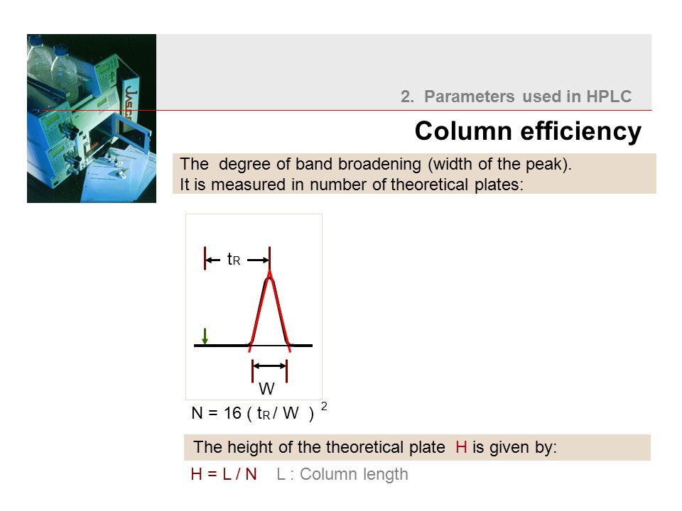 The degree of band broadening (width of the peak).