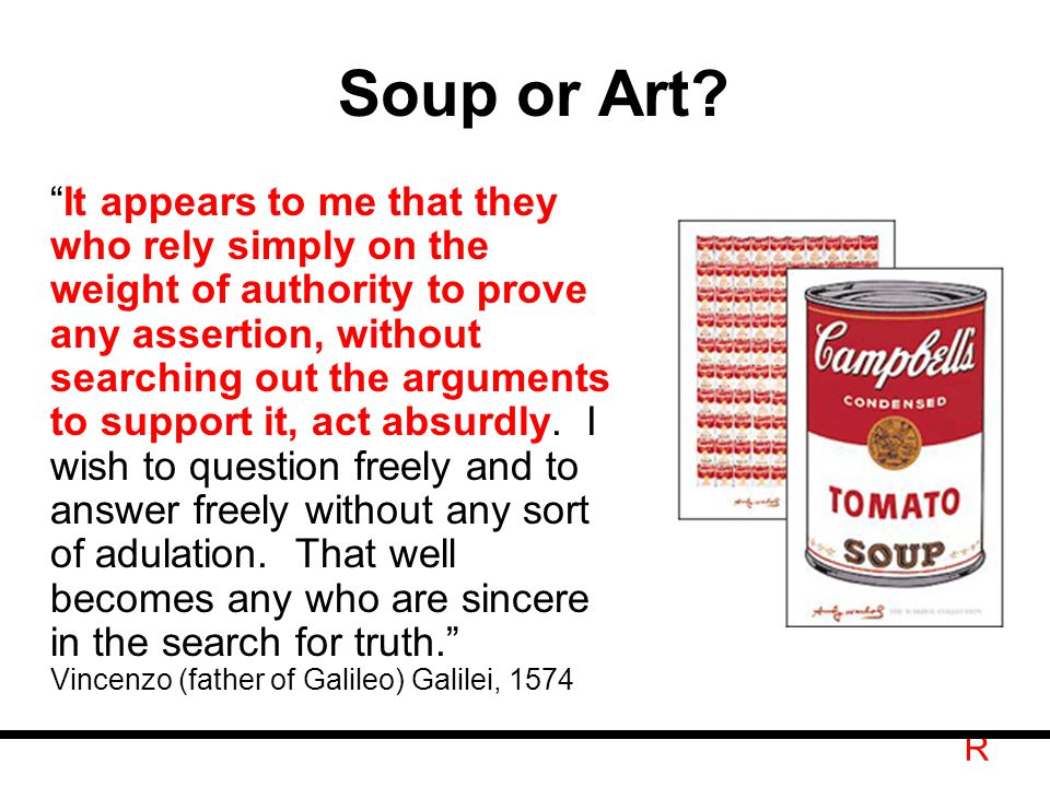 R Soup or Art.
