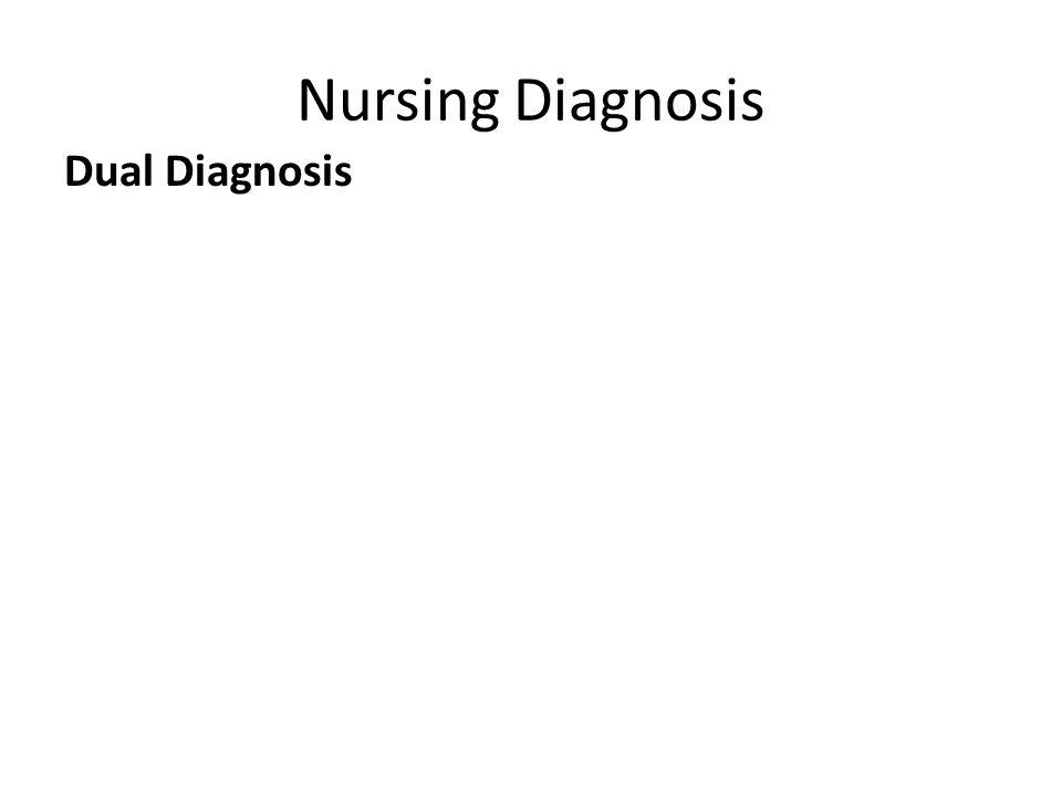 Nursing Diagnosis Dual Diagnosis