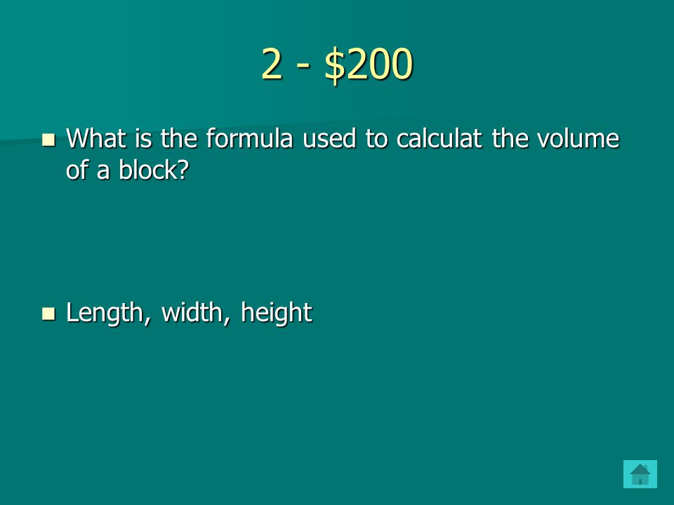 2 - $100 List 3 examples of physical properties List 3 examples of physical properties Mass, volume, density etc. Mass, volume, density etc.