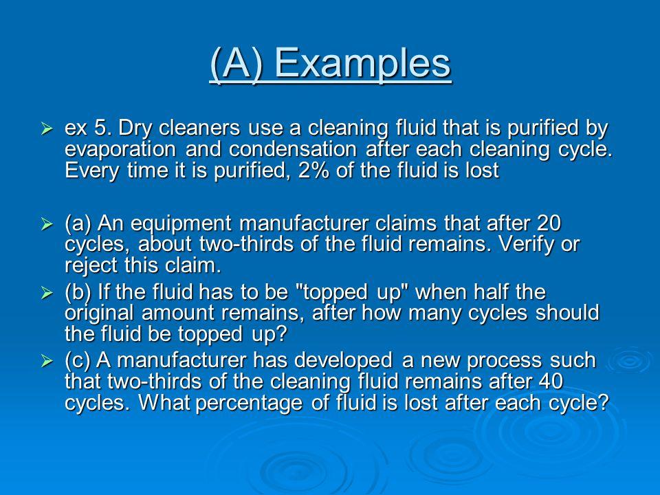 (A) Examples  ex 5.