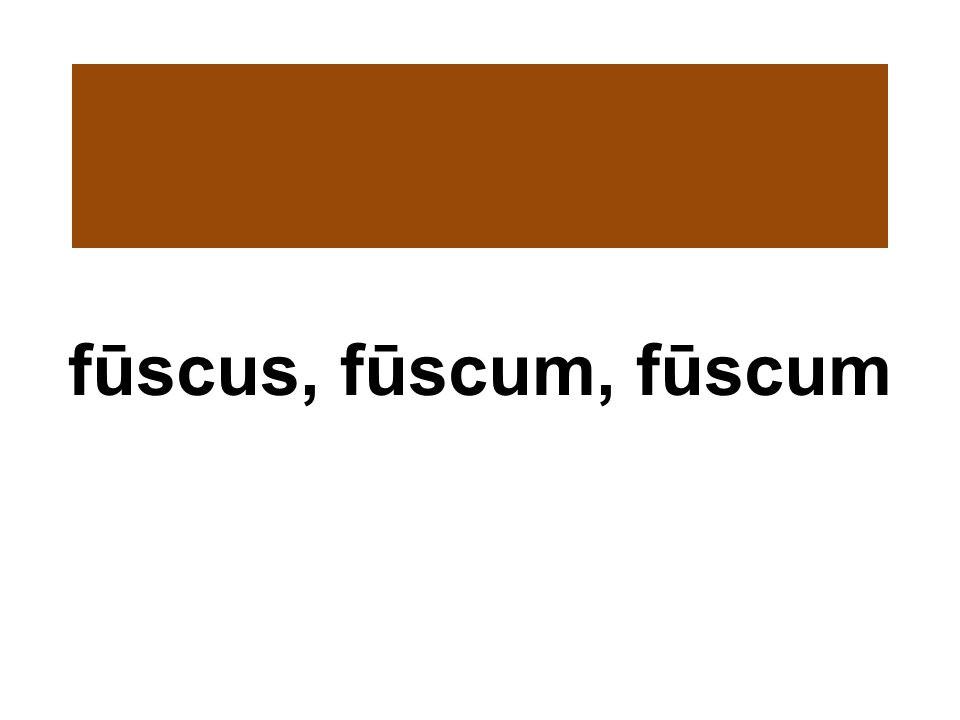 fūscus, fūscum, fūscum