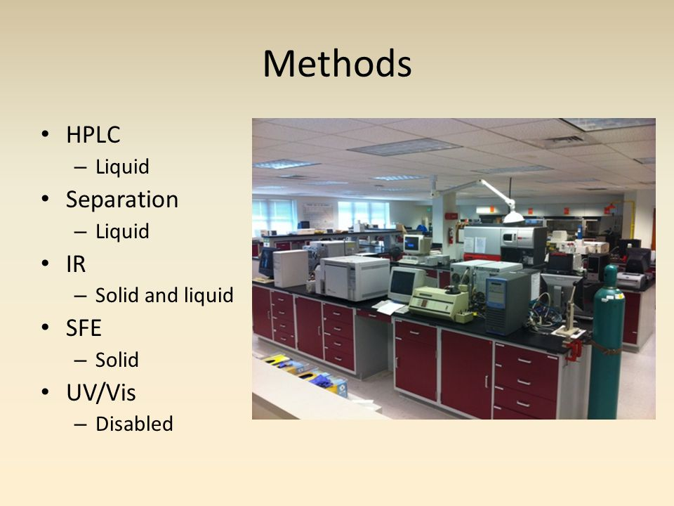 HPLC Hypothesis Samples – 10-50ppm caffeine standards – Strong caffeinated/decaffeinated – Regular caffeinated/decaffeinated – Weak caffeinated/decaffeinated Dilution of coffee samples