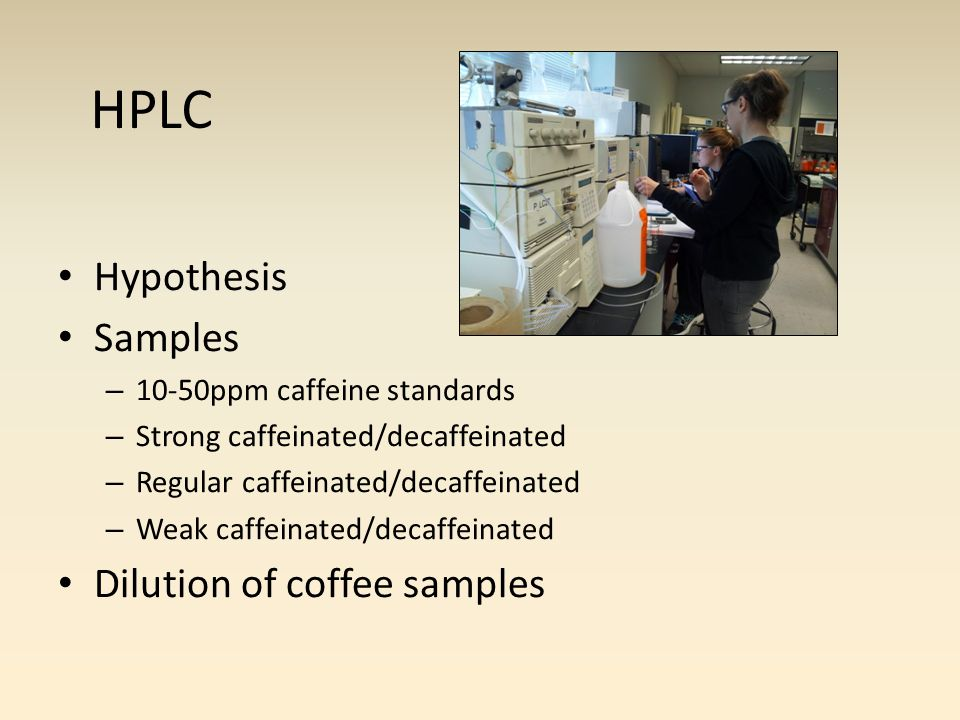 4 Samples – Pure coffee grounds – Post brewing coffee grounds 1 gram of each sample 10 minute runs End mass indications IR results