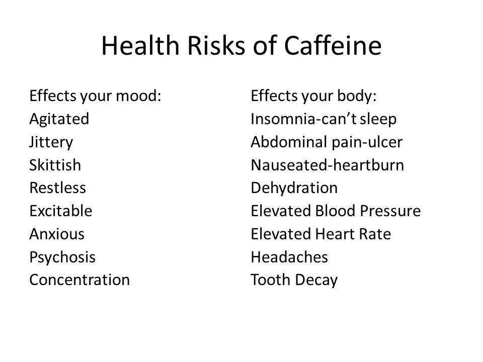 Main Side Effects of Caffeine