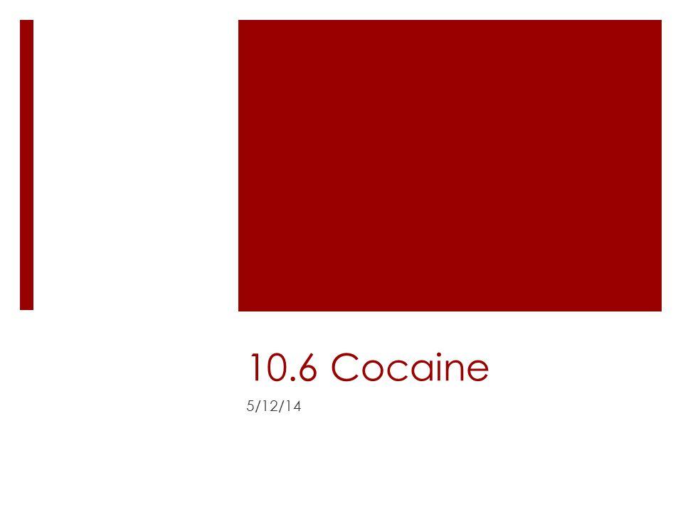 10.6 Cocaine 5/12/14