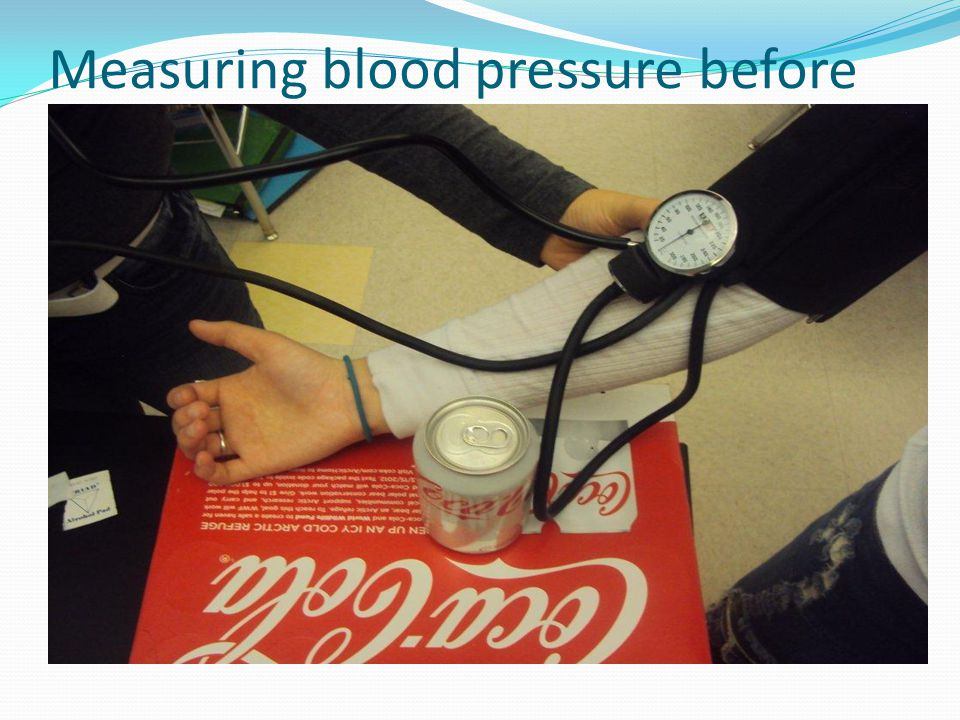 Measuring blood pressure before