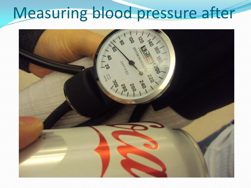 Measuring blood pressure after