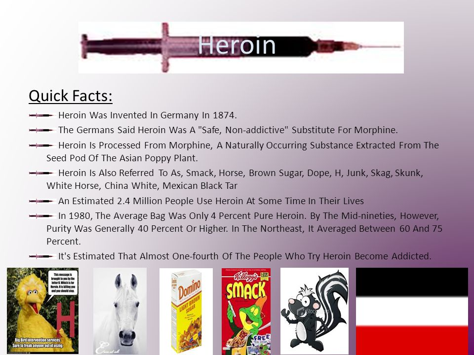 Heroin Quick Facts: Heroin Was Invented In Germany In 1874.
