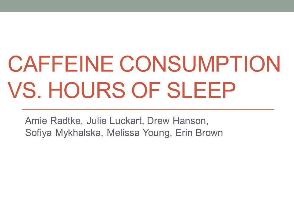 CAFFEINE CONSUMPTION VS.