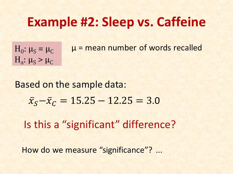 Example #2: Sleep vs.