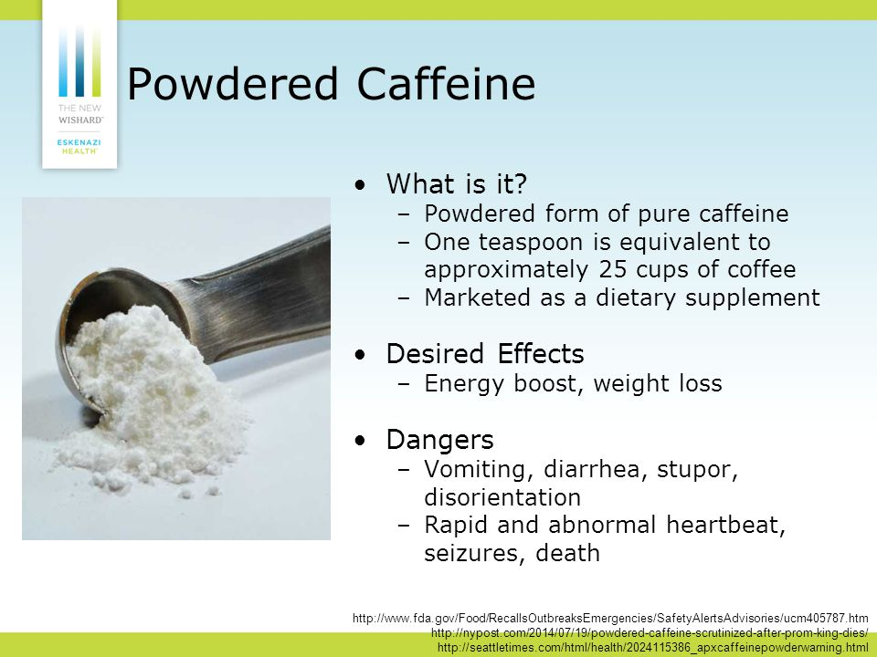 Powdered Caffeine What is it.