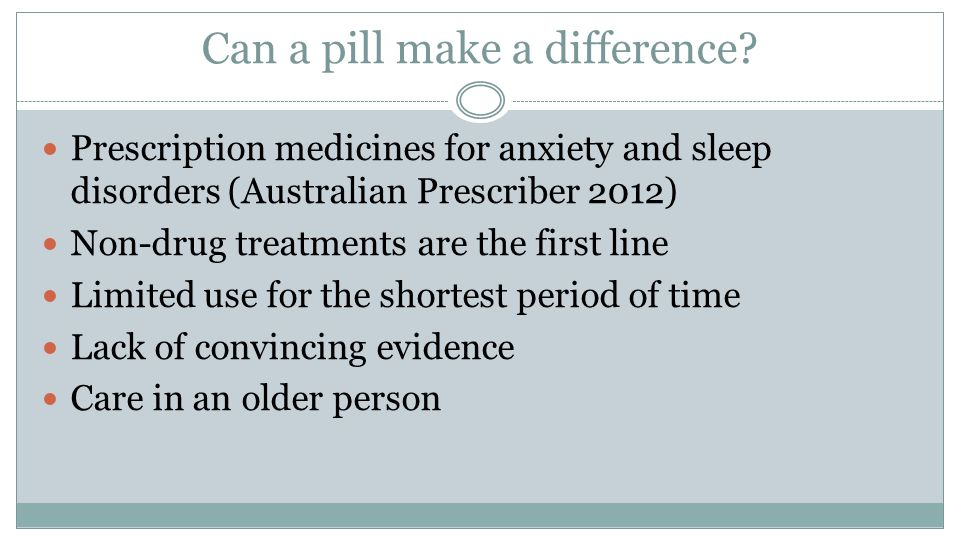 Can a pill make a difference.