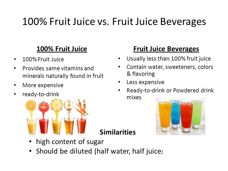100% Fruit Juice vs.