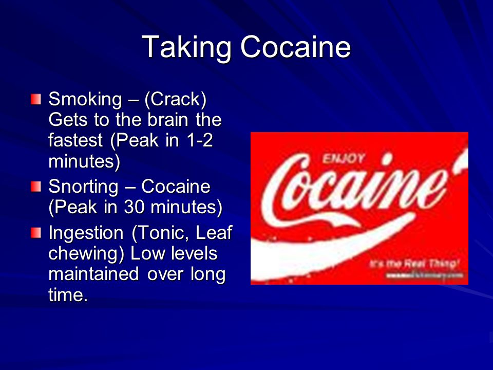 Cocaine Effects Cocaine is an antagonist for the dopamine reuptake enzyme.