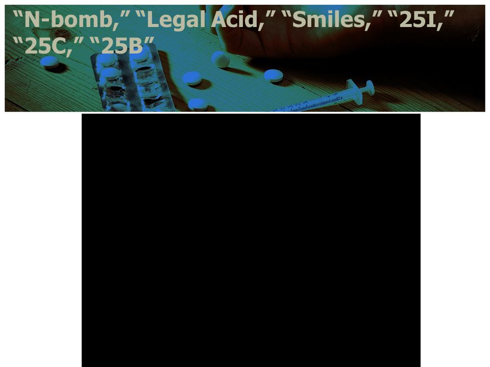 N-bomb, Legal Acid, Smiles, 25I, 25C, 25B