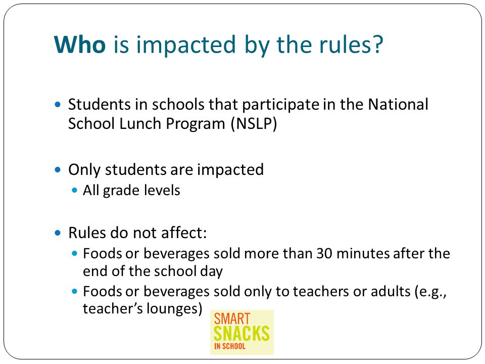 Who is impacted by the rules.