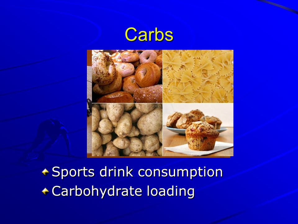 Carbs Sports drink consumption Carbohydrate loading