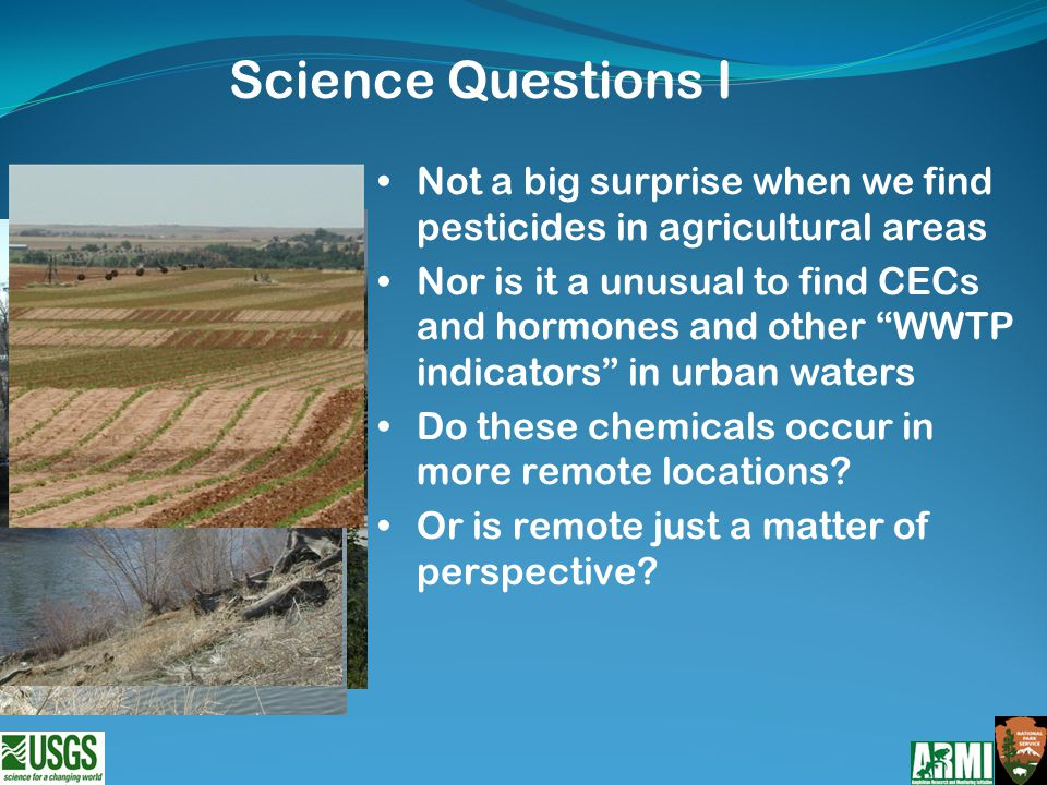 What contaminants CECs are wildlife exposed to in remote and less remote aquatic habitats.