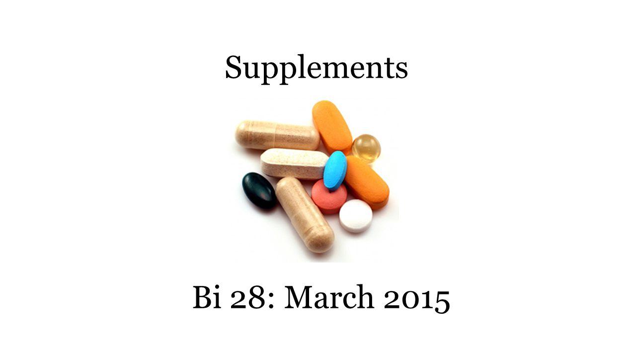 Supplements Bi 28: March 2015